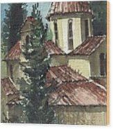 Spanish Rooftops Wood Print
