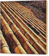 Spanish Shingles Wood Print