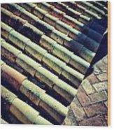 Spanish Shingles II Wood Print