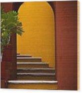 Spanish Stairway Wood Print