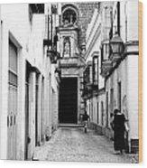 Spanish Street Wood Print