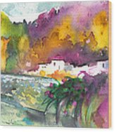 Spanish Village By The River 02 Wood Print