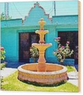 Spanish Water Fountain De San Francisco Conchos Wood Print