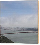 Spanning The Golden Gate Wood Print