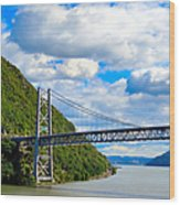 Spanning The Hudson River Wood Print