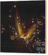 Sparkler Macro Wood Print