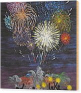 Sparklers Wood Print by Cynthia Ring