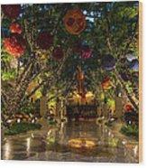 Sparkling Merry Exuberant Decorations Wood Print