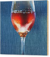 Sparkling Moscato Wood Print