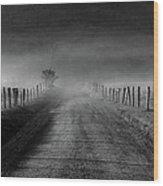 Sparks Lane In Black And White Wood Print