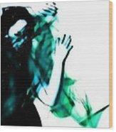 Spastic Blue Wood Print