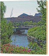 Spaulding Rehab From North Point Park Wood Print