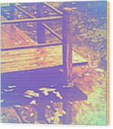 Speak Softly Autumn Reflections Wood Print