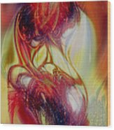 Speaking In Flames Wood Print