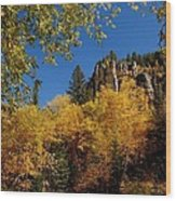 Spearfish Canyon In Autumn Color Wood Print
