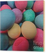 Speckled Easter Eggs Wood Print