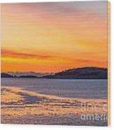Spectacle Island Sunrise Wood Print