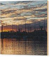 Spectacular Sky - Toronto Beaches Marina Wood Print