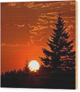 Spectacular Sunset IIl Wood Print