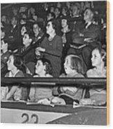 Spectators At The Circus Wood Print