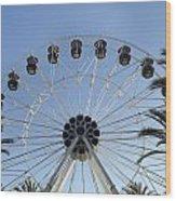 Spectrum Center Ferris Wheel In Irvine Wood Print