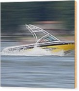 Speed Boat Wood Print by Thomas Fouch