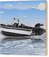 Speed Boating Wood Print