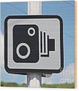 Speed Camera Sign Folkestone Wood Print