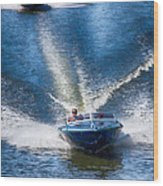 Speed On The Water Wood Print
