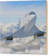 Speeding Above The Clouds Wood Print by Dale Jackson