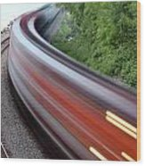 Speeding Train Wood Print