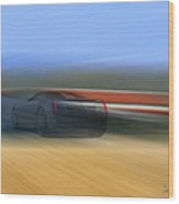 Speedway - Featured In 'all Things Abstract' Group Wood Print