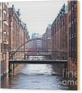 Speicherstadt Hamburg Wood Print