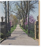 Spendthrift Farm Entrance Wood Print