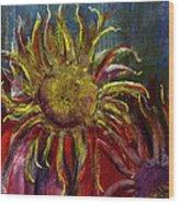 Spent Sunflower Wood Print