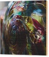 Sphere Of Color Wood Print