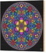 Sphere Packed Hyperbolic Disk Wood Print