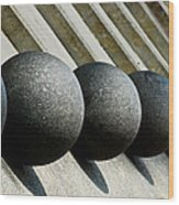 Spheres And Steps Wood Print by Christi Kraft