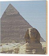 Sphinx Guard Wood Print