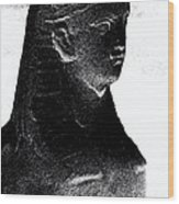 Sphinx Statue Torso Black And White Usa Wood Print