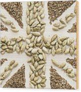 Spice Flag Wood Print