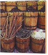 Spices In The Egyptian Market Wood Print