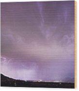 Spider Lightning Above Haystack Boulder Colorado Wood Print by James BO  Insogna