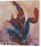Spider-man Wood Print