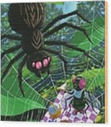 Spider Picnic Wood Print