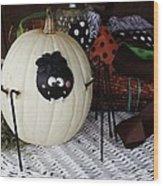 Spider Pumpkin Wood Print