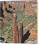 Spider Rock Canyon De Chelly Wood Print by Christine Till
