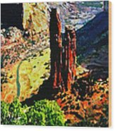 Spider Rock Canyon Dechelly  Wood Print