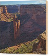 Spider Rock Sunrise Wood Print