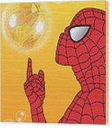Spiderman 3 Wood Print